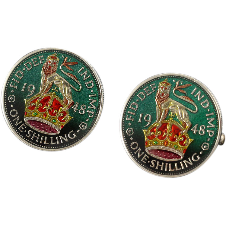 Ben Silver English Shilling Cufflinks