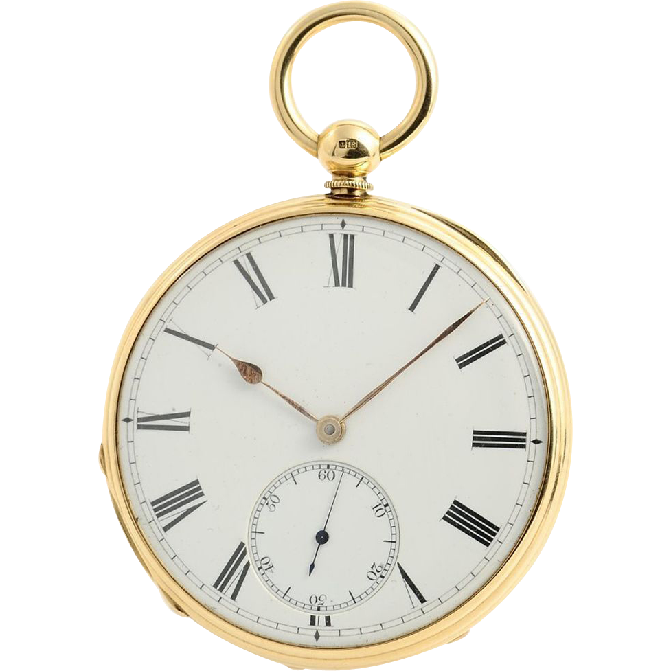 James Whitelaw 18KYG Scottish Pocket Watch with English Lever Escapement Circa 1875