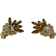 Amber Skinny Navette Rhinestone  Earrings