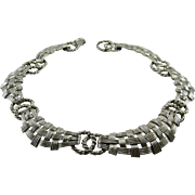 Marcel Boucher 5600 Silvertone Collar Necklace Pre 1955