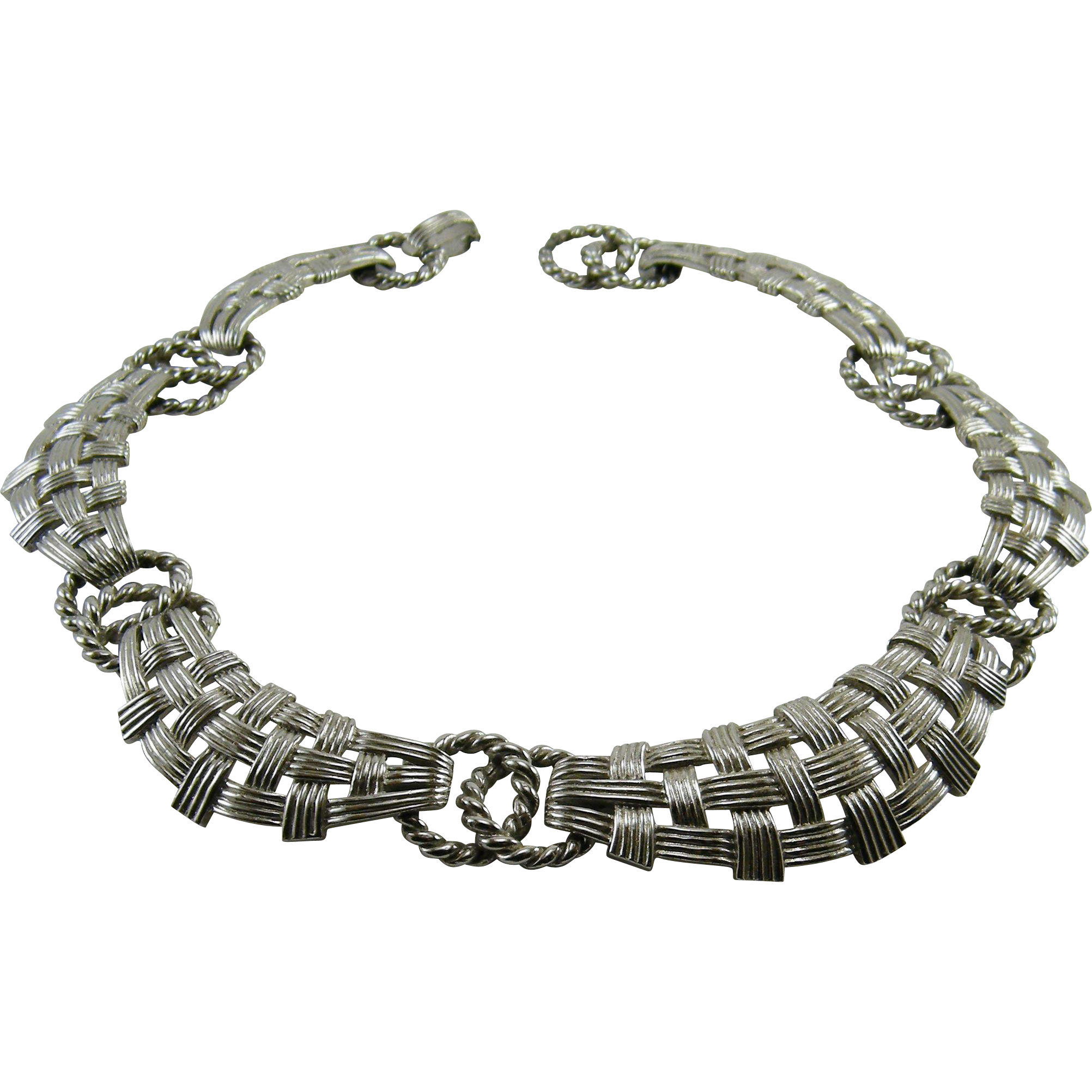 Marcel Boucher 5600 Silvertone Collar Necklace Pre 1955
