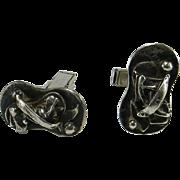 Sterling Silver Brutalist Style Cufflinks