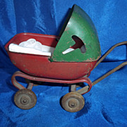Miniature Steel Doll Carriage for  a Doll