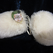Mohair Muff and Hat for French fashion or Contemporary Fashion