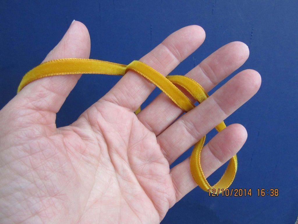 1970's Spool of Gold Velvet Thin Ribbon for Doll Clothing