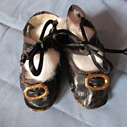 Old Oilcloth Shoes