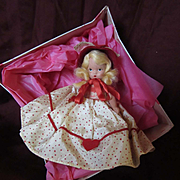 "Nancy Ann Storybook Bisque Blonde ""Queen of Hearts"" with Box"