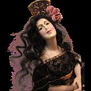 Composition Half Doll