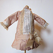 Silk Dress for small French doll