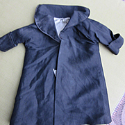 Black Silk Coat for Doll