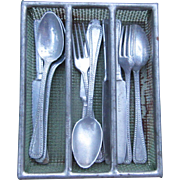 Doll's Cutlery Tray and Silver
