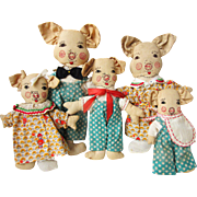 Incredible Cloth Pig Family