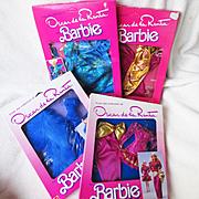 Four MIP Mattel Vintage Oscar de la Renta Barbie Outfits