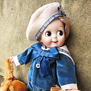 Vintage Dolls Velvet Sailor Suit