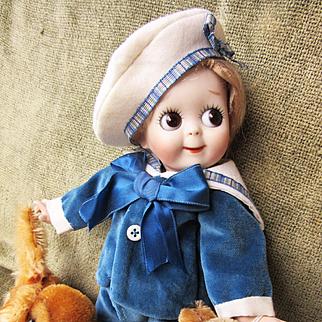 Vintage Dolls Velvet Sailor Suit