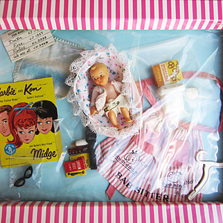 Vintage Barbie Babysits in box