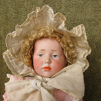 Antique Eyelet Cap for Small Doll