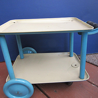 Doll's Midcentury Metal Teacart or Nurse's Cart
