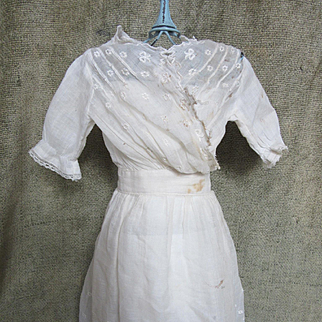 """Antique Doll""""s Dress for German Doll"""