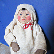 Vintage Cloth Russian Doll Depicting a Laplander