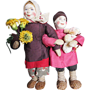 Vintage Russian Children in Cloth