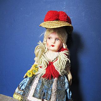 Vintage Forties Lenci Type Peasant Girl