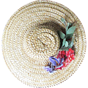 Vintage Straw Madame Alexander Small Hat