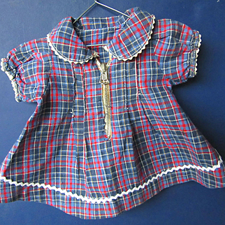 Vintage Composition Patsy Ann or Shirley Zipper Dress