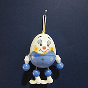 Vintage Celluloid Humpty Dumpty Doll Rattle for Dy Dee