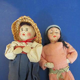 Vintage Soviet Union Cloth Dolls