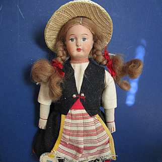 Vintage Soviet Union Cloth Girl
