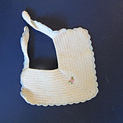 Vintage Crocheted Doll Bib