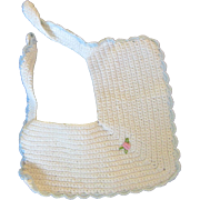 Vintage Crocheted Doll Bib
