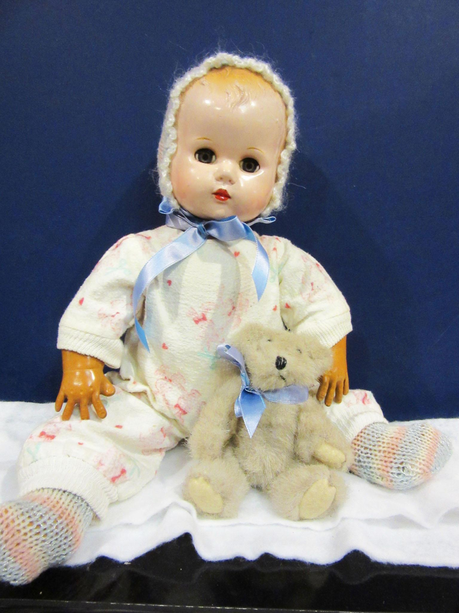 Vintage Baby with Dy Dee flannel pajamas