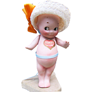 Vintage Rose O'Neill Bisque Kewpie with labels