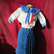 Vintage Sailor Costume for a Slim Doll