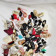 Large Assortment of Vintage and Antique Single Shoes