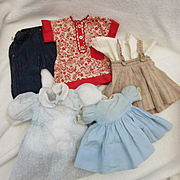 Collection of Vintage Factory Doll Clothing