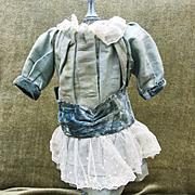 Antique Aqua Doll dress for French doll