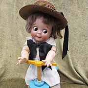 Vintage Wooden Doll Scooter