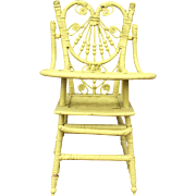 Antique Victorian Doll High Chair