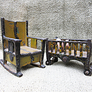 Antique Iron Dollhouse Furniture