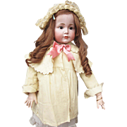 Antique Cream Wool Coat for Large Doll