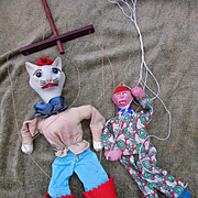 Two Vintage Marionettes