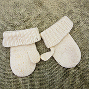 Vintage Knit Mittens for doll's Trousseau