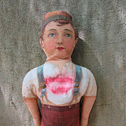 Antique Cloth Conestoga Flour Advertising Doll