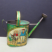 Antique Metal Watering Can for Dolls
