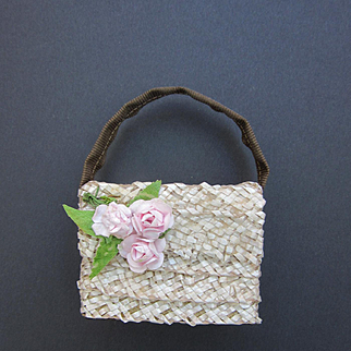 Small Straw Doll's Purse for Cissy, Miss Revlon