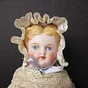 Antique Parian Infant in Original Dress