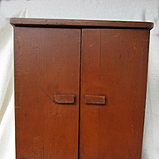 1940 Wooden Doll Wardrobe